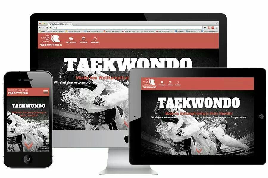 Responsive Design. Website TSV Rudow - Taekwondo. Relaunch! #responsive #webdesign #homepage #taekwondo #taekwondo_berlin #tsvrudow