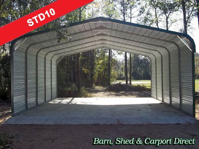 Standard Metal Carport 20 X 26 X 6 1800 Installed Metal Farm Buildings Farm Buildings Metal Carports