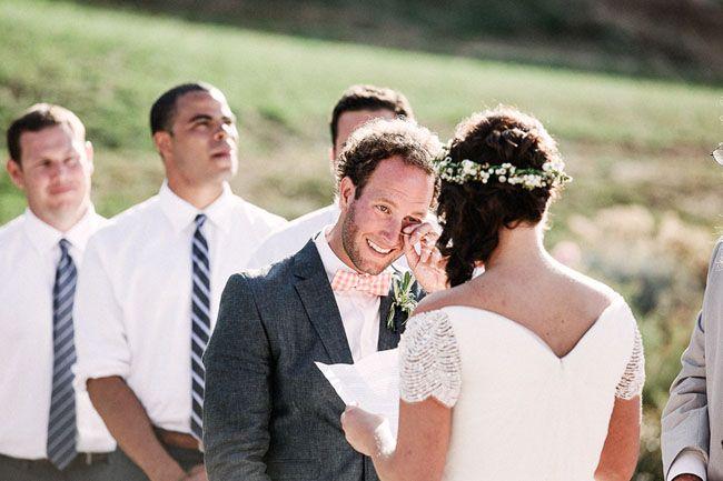 Noivo emocionado. #casamento