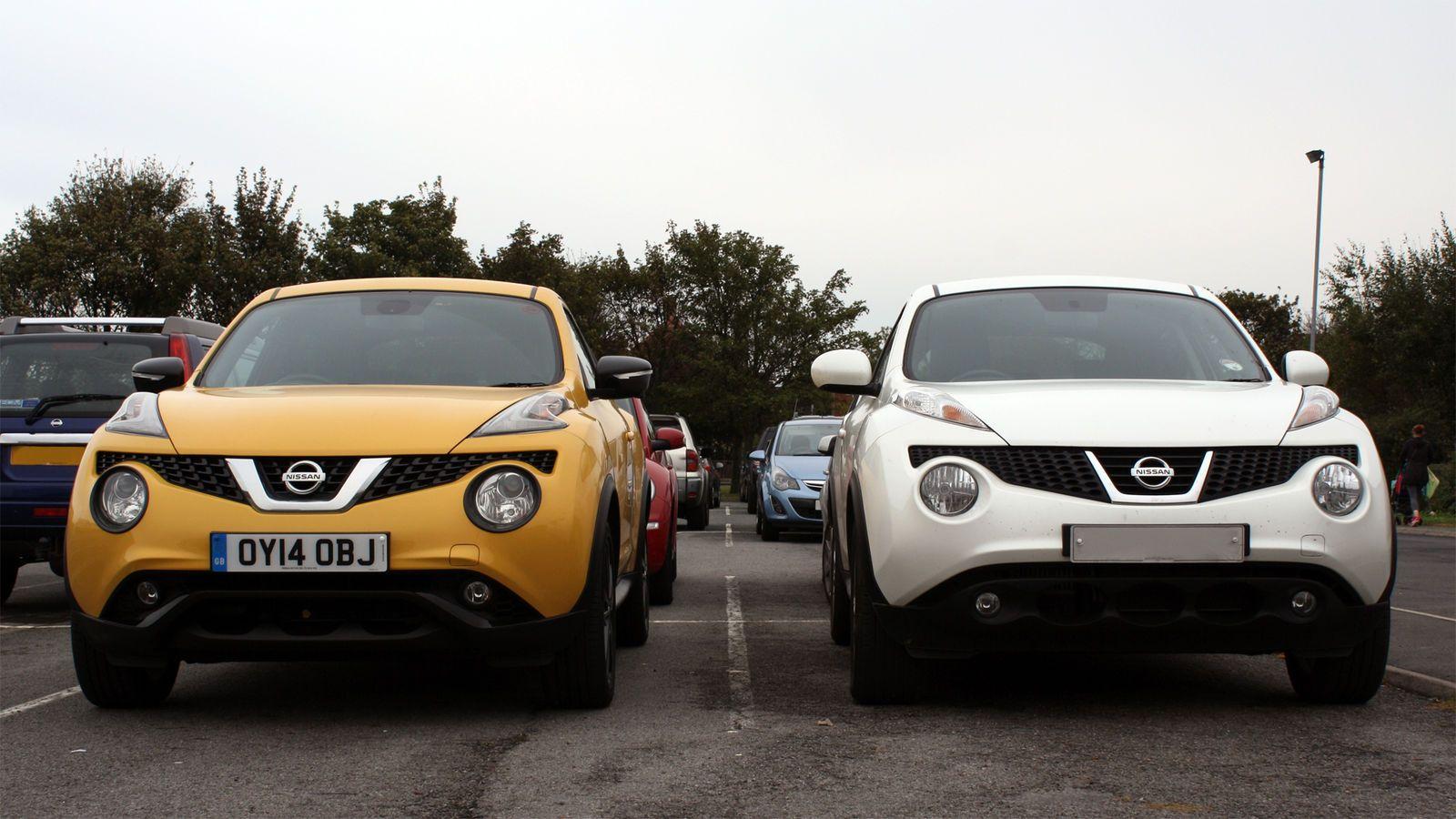 Nissan juke facelift comparo jpg 1600 900