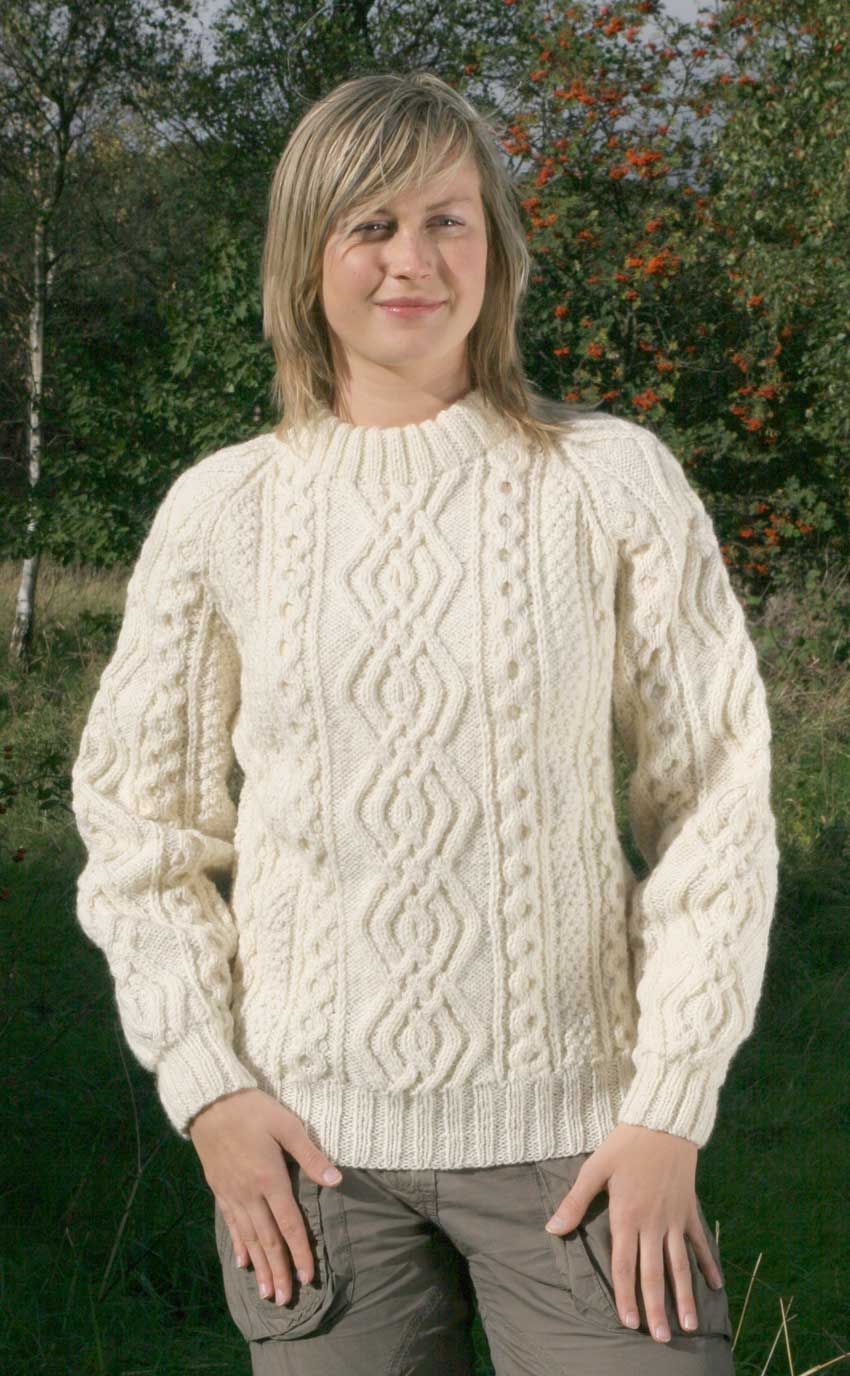 Luxury Hand-Knitted Aran Sweater, \