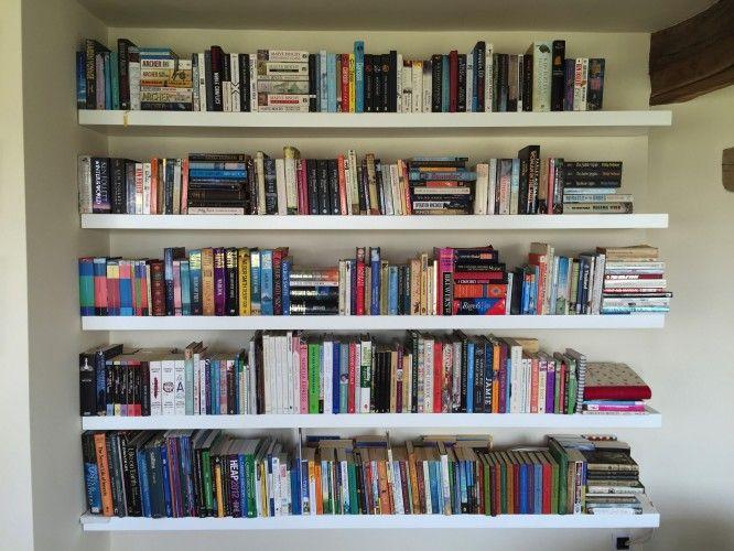 579-White Floating Book Shelves