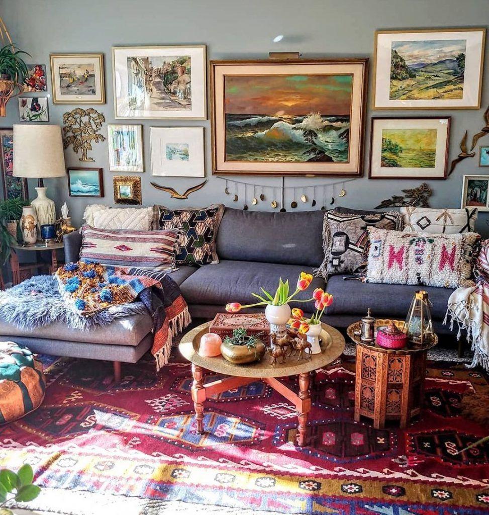 Ideas For Rustic Living Room Idea Of Decoration Bohemian Living Room Decor Budget Home Decorating Unique Home Decor