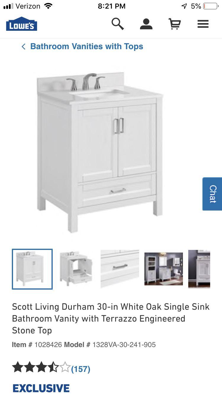 Pin By Anne Lavoie On Guest Bath Ideas Bathroom Vanity Tops Single Sink Bathroom Vanity Lowes Bathroom Vanity