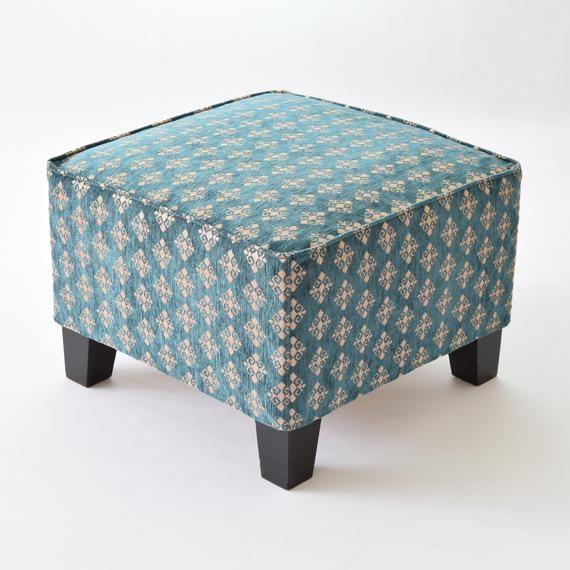 Ikea Ekenas Ottoman Footstool Fabric Cover F06 Tribal Bohemian