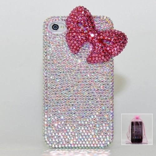 9b40ae5cf41 3D Swarovski Luxury AB Crystals Bling Case Cover for iphone 4 / 4s 100%  Handcrafted: Cell Phones #Swarovski Case