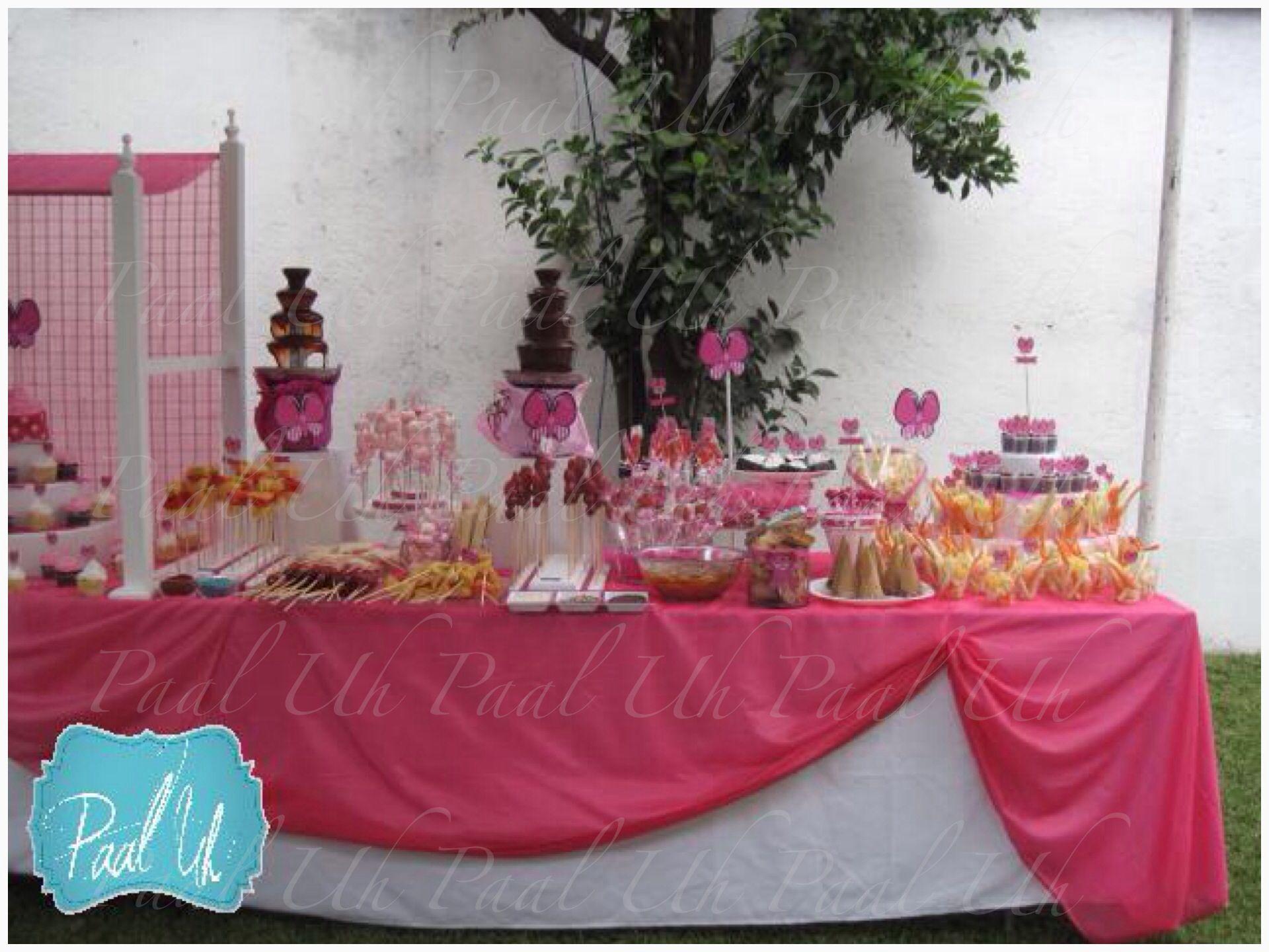 Paal Uh Mesa De Postres Snacks Dulces Botanas Candy Bar