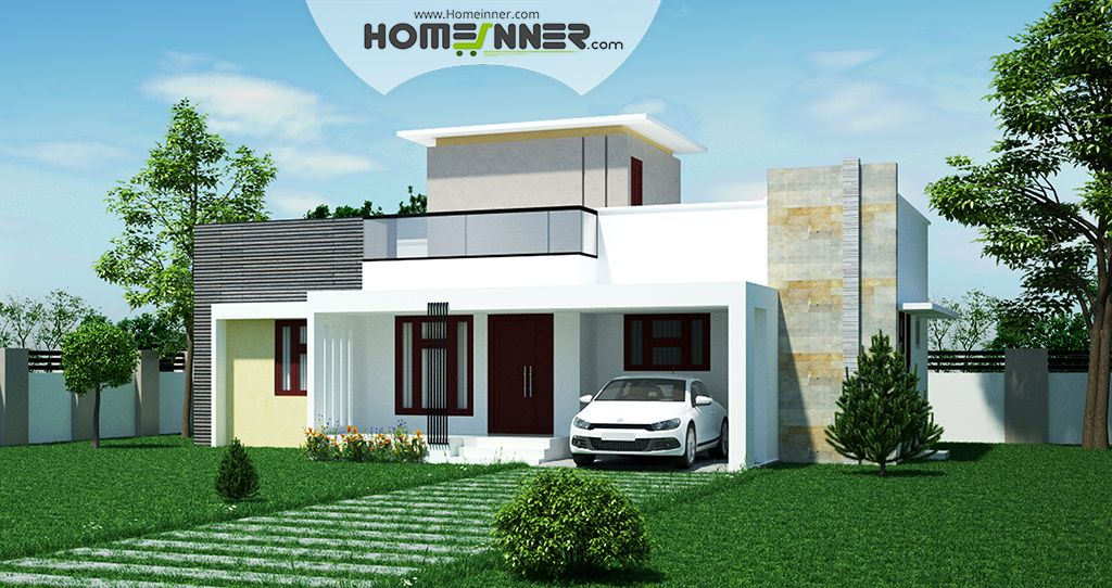 Low cost 2 Bhk Indian House Design