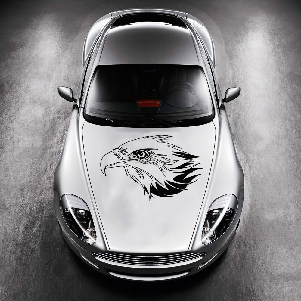 TRIBAL EAGLE BIRD TATTOO DESIGN HOOD CAR VINYL STICKER DECALS - Cool car decals designcar styling dream racing design cool car refit vinyl stickers and