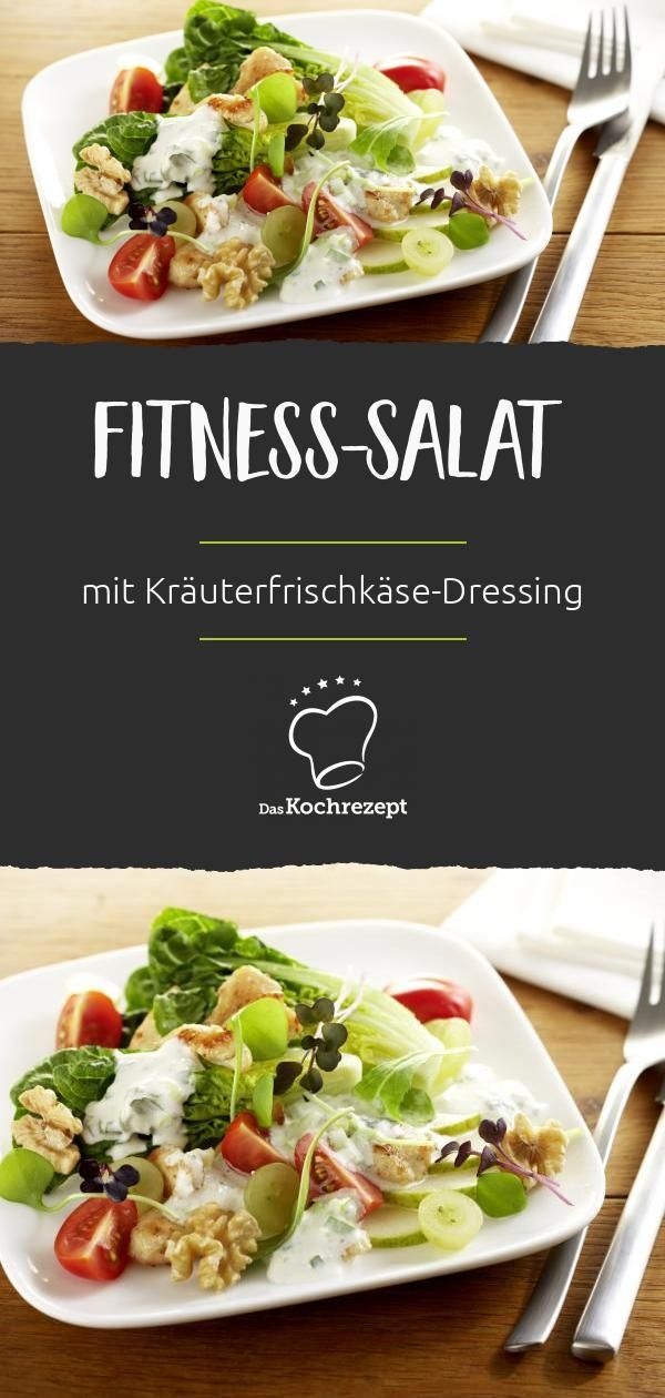 A fitness salad with power ingredients: The walnuts contain many unsaturated ...  -  #Fitness #ingre...