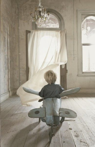 My boy would go crazy about the airplane and mama - for the chandelier and the floor