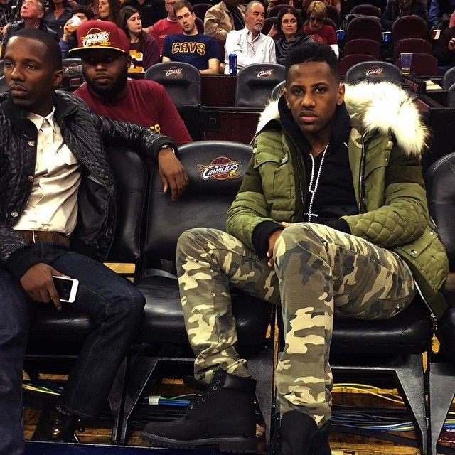 d286f033851 Fabolous Wears Balmain Courtside at the Cleveland Cavaliers Game ...