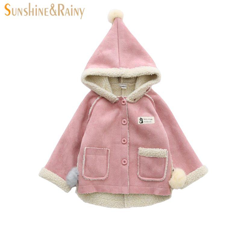 fe72e4c54a6c Girls Winter Coat New Girls Leather Jacket Children s Coats Fur ...