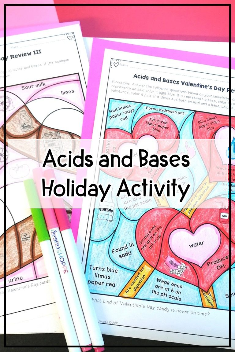 Acids And Bases Valentine S Day Activity Middle School