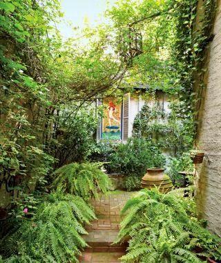 Modern Garden in New York, New York....