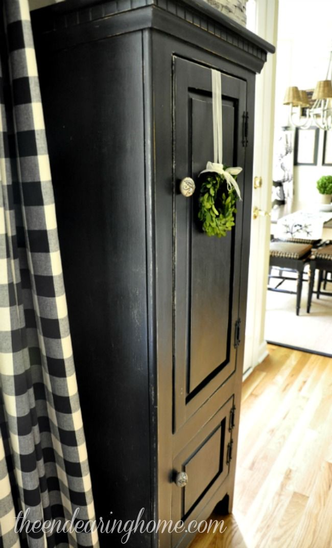 Love Black Paintied Furniture   From Trashed To Treasured Painted Cabinet