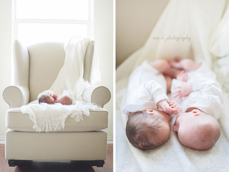 Newborn twin photos in denton texas with dallas newborn photographer