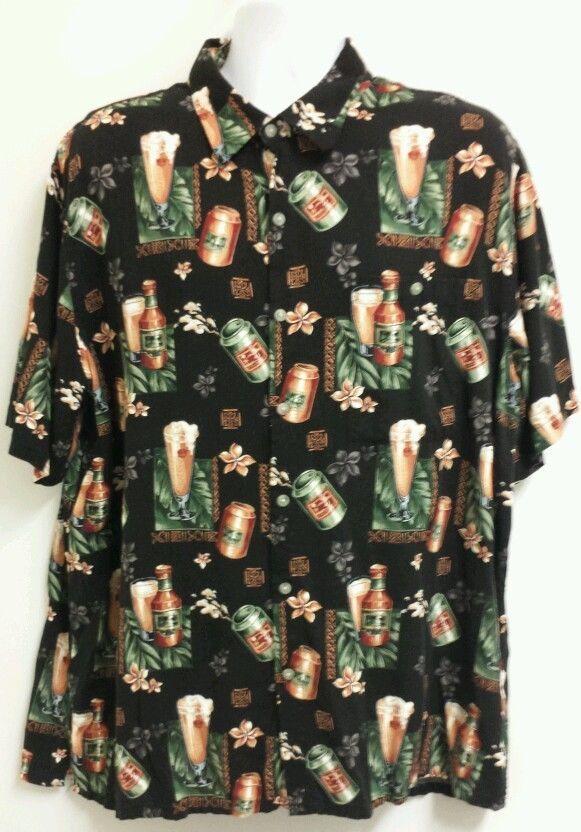 28c43bc4aa4 2XL Mens Croft & Barrow Hawaiian Beer Camp SS Shirt | Hawaiian ...