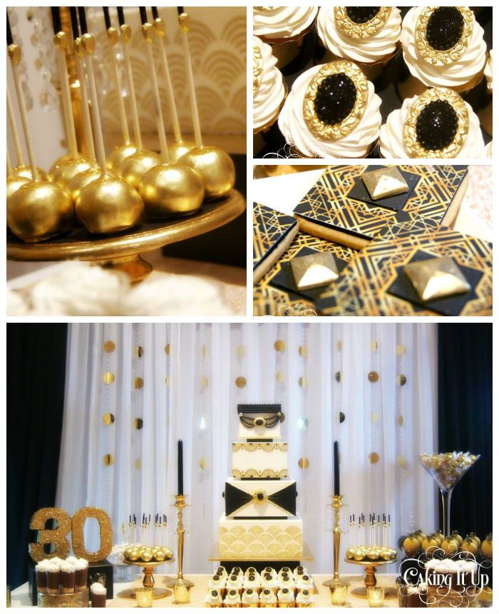 Great gatsby themed 30th birthday party karaspartyideas for 30th birthday party decoration ideas