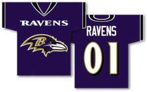Baltimore Ravens Jersey Flag Banner