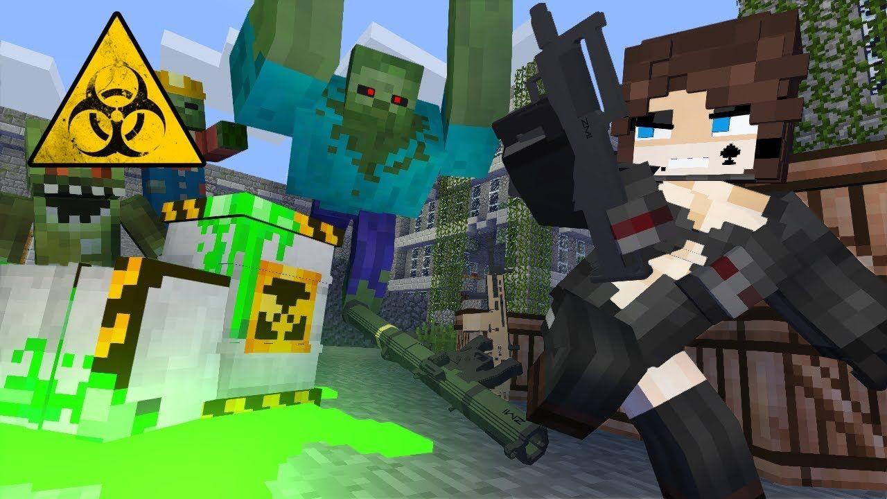 Zombie Apocalypse Survival Minecraft Animation https