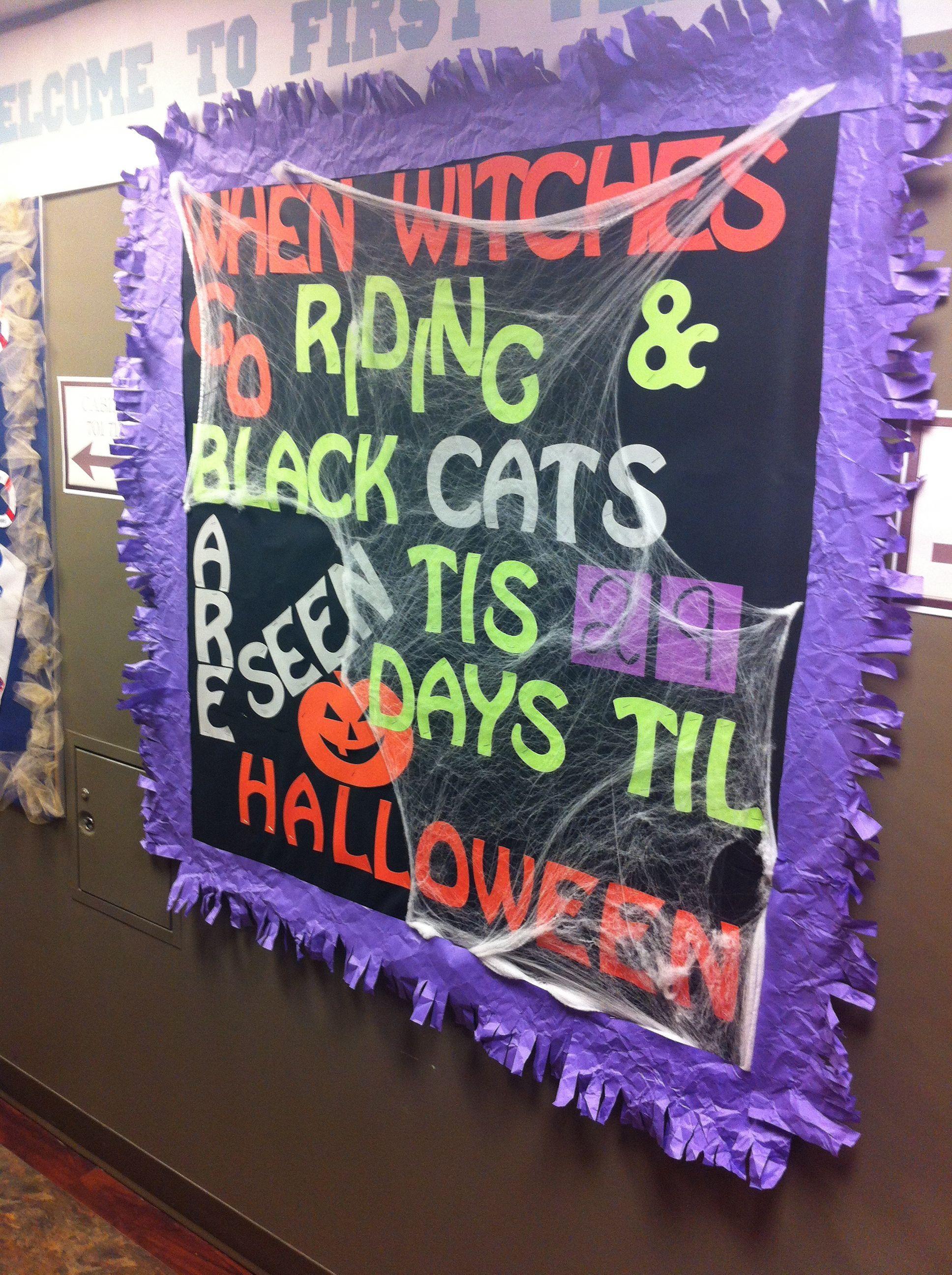 Cute Halloween Classroom Decorations ~ Halloween bulletin board let s create a community