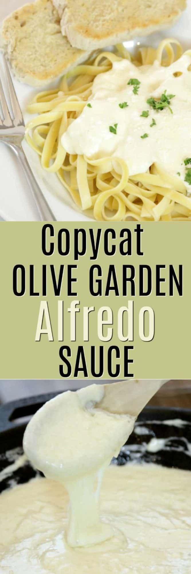 How to make Copycat Olive Garden Fettuccini Alfredo Sauce ...