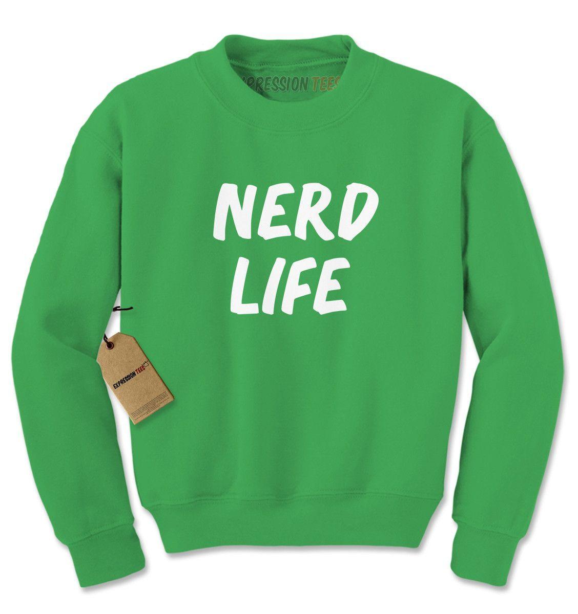 Nerd Life Nerd Living Adult Crewneck Sweatshirt