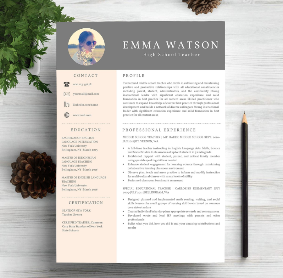 creative resume free templates