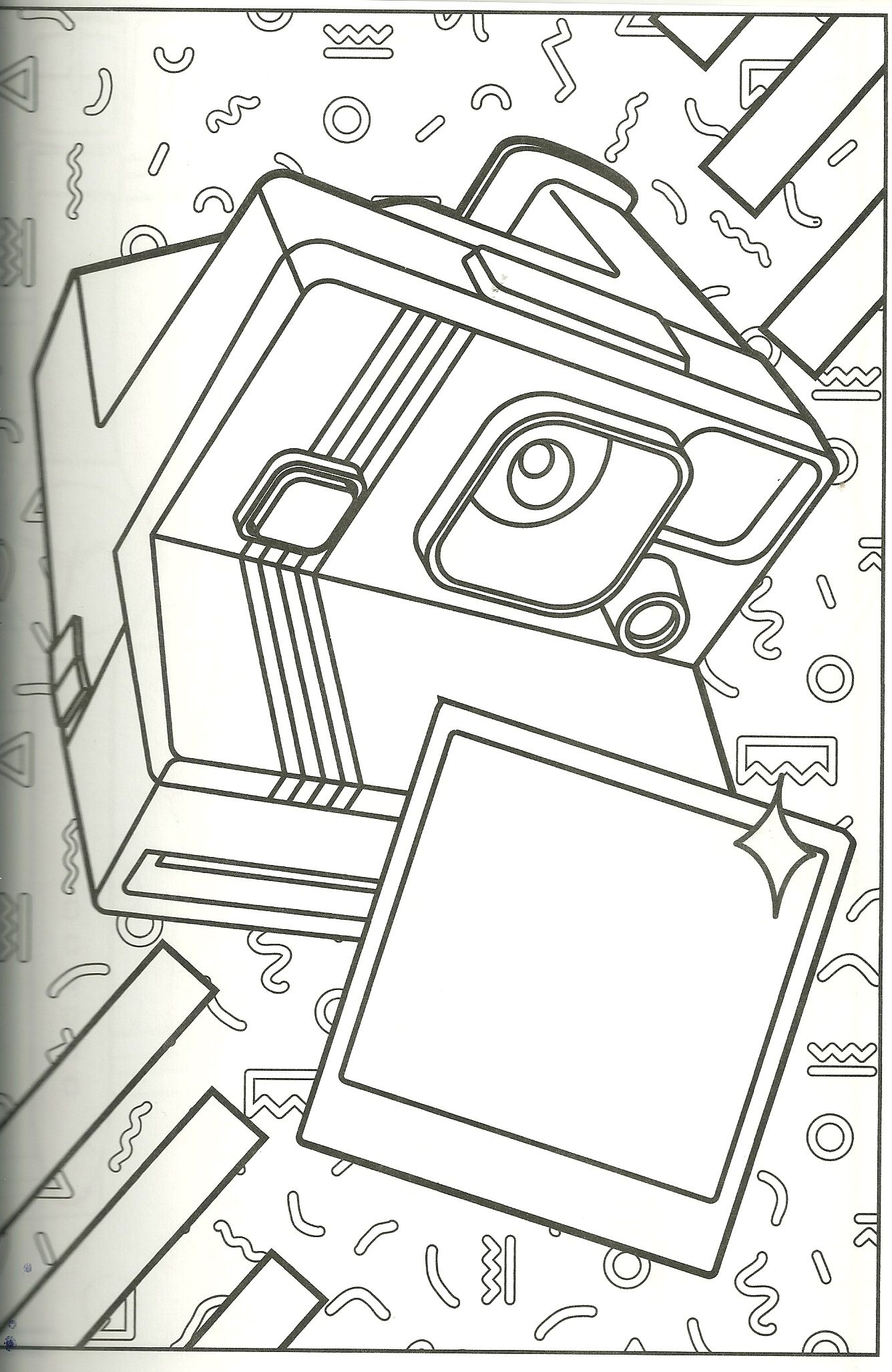 Polaroid coloring page. I have one of these cameras I use often