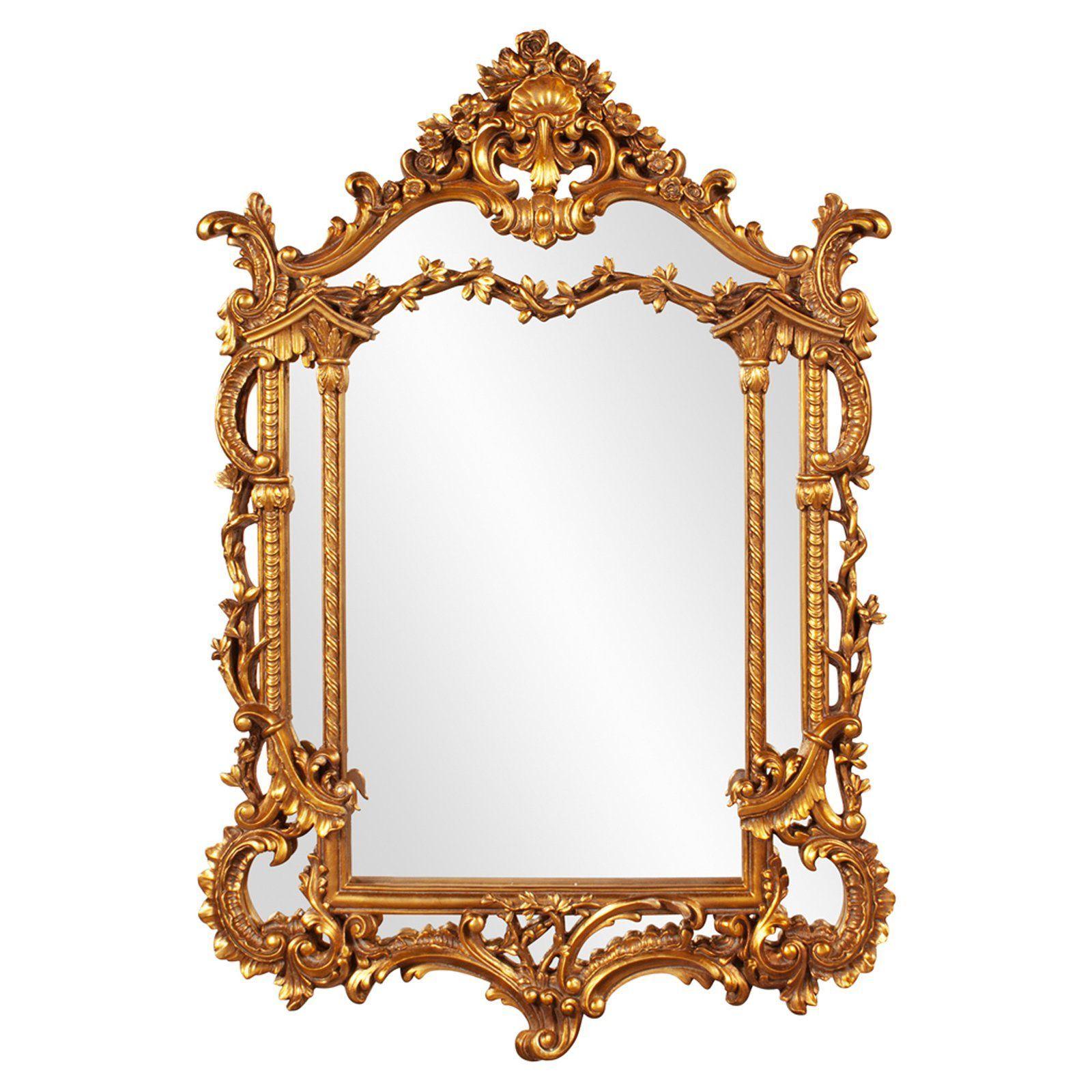 Elizabeth austin arlington gold baroque mirror 34w x 49h