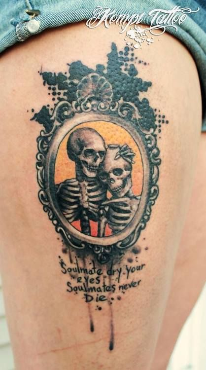 Thigh Tattoo My Body Is My Journal And My Tattoos Are My Story