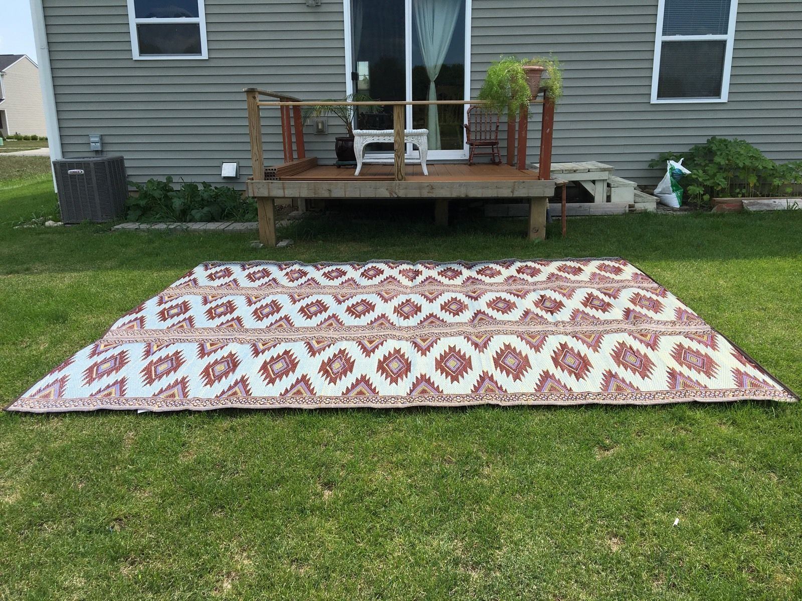 Deal Outdoor Rug 9 X 12 Camping Picnic Patio Mat Indoor Rugs