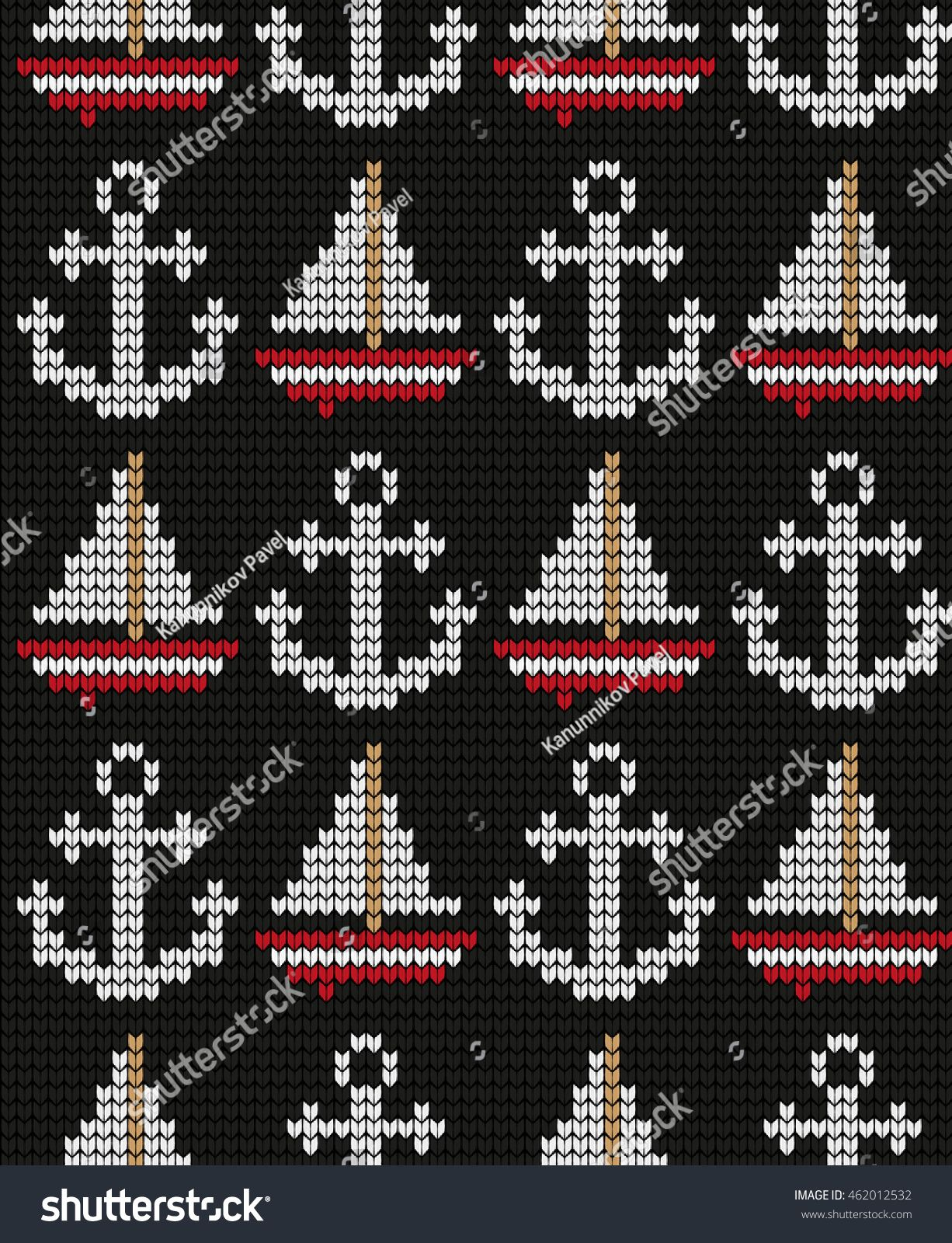 Photo of Stricken Marine Seamless Pattern Stock Vector (Lizenzfrei) 462012532