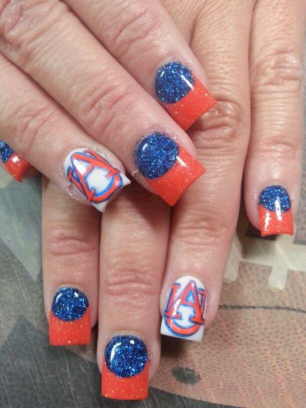 Auburn Nails War Eagle War Damn Eagle Pinterest Auburn