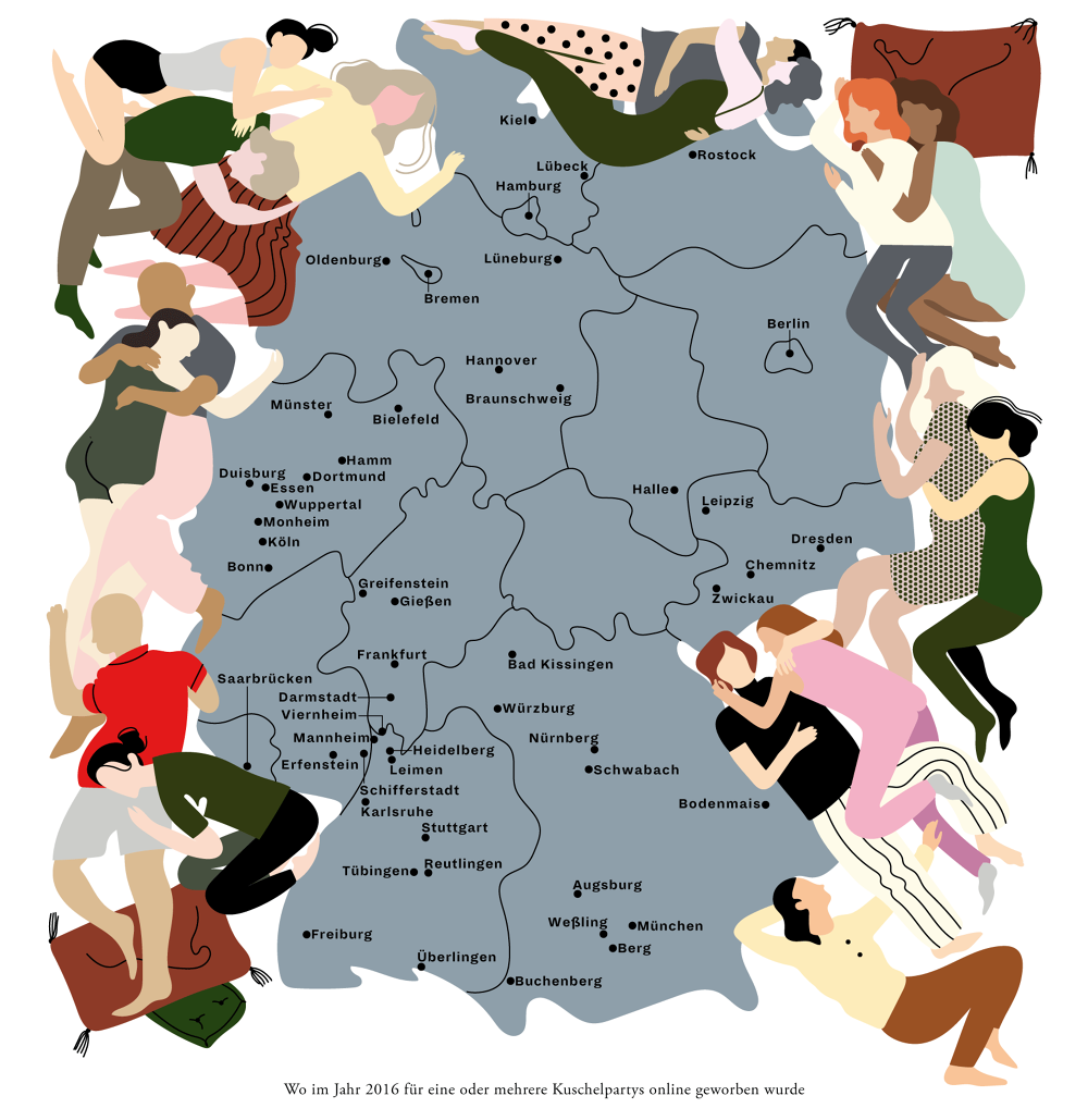 Zeitmagazin Deutschlandkarte Laura Edelbacher Illustrations