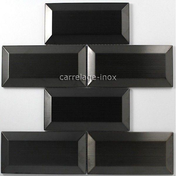 Tile Stainless Steel Mosaic Splashback Kitchen Metro Black Carrelage Inox Fr Carrelage Inox Credence Cuisine Carrelage