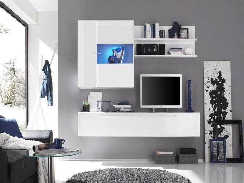 Captivating White Wall Units For Modern Living Room   Vissbiz