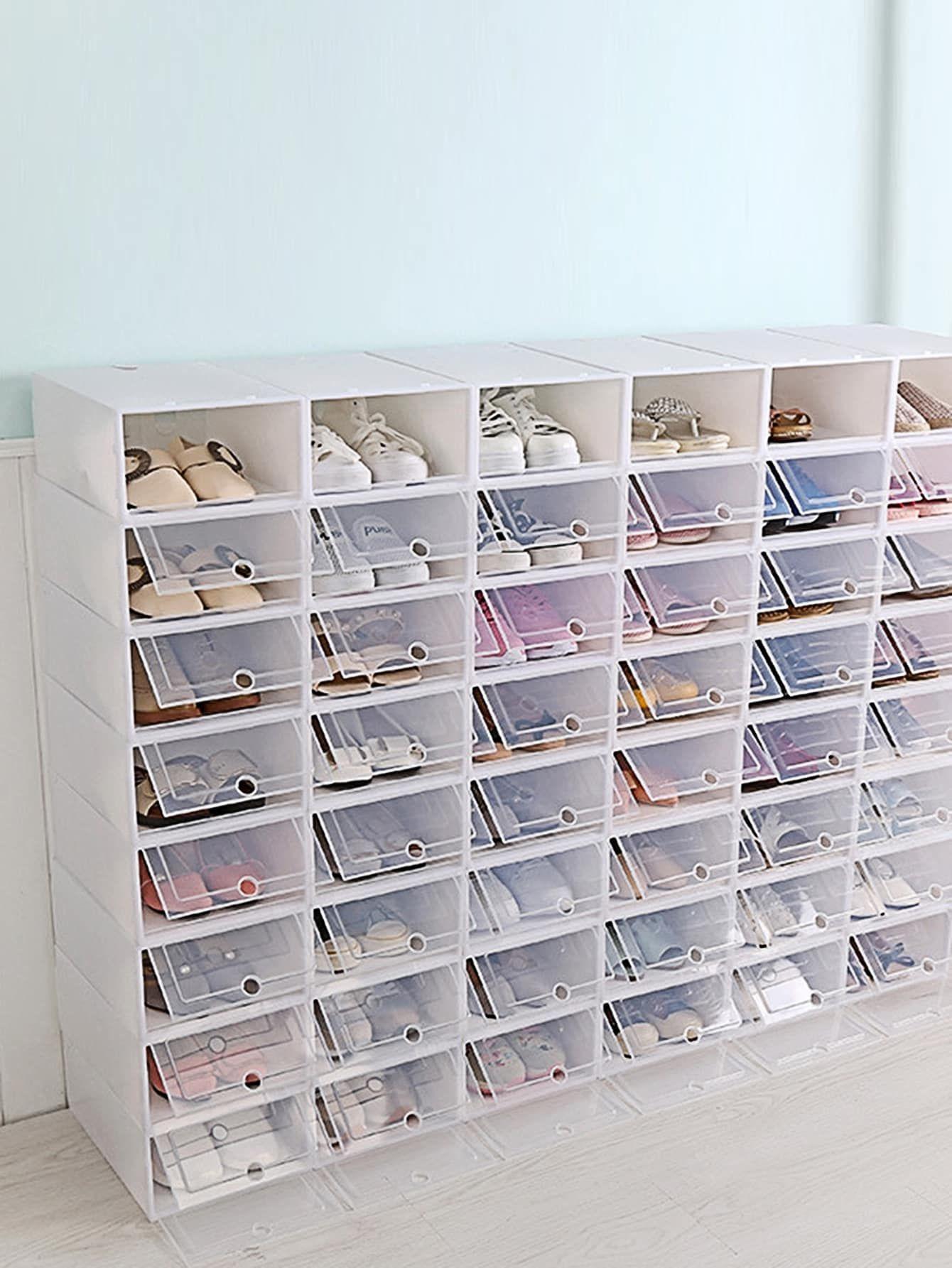 Boite De Rangement Rectangulaire Pour Chaussures 1 Piece Boite De Rangement Rangement Organisation Rangement