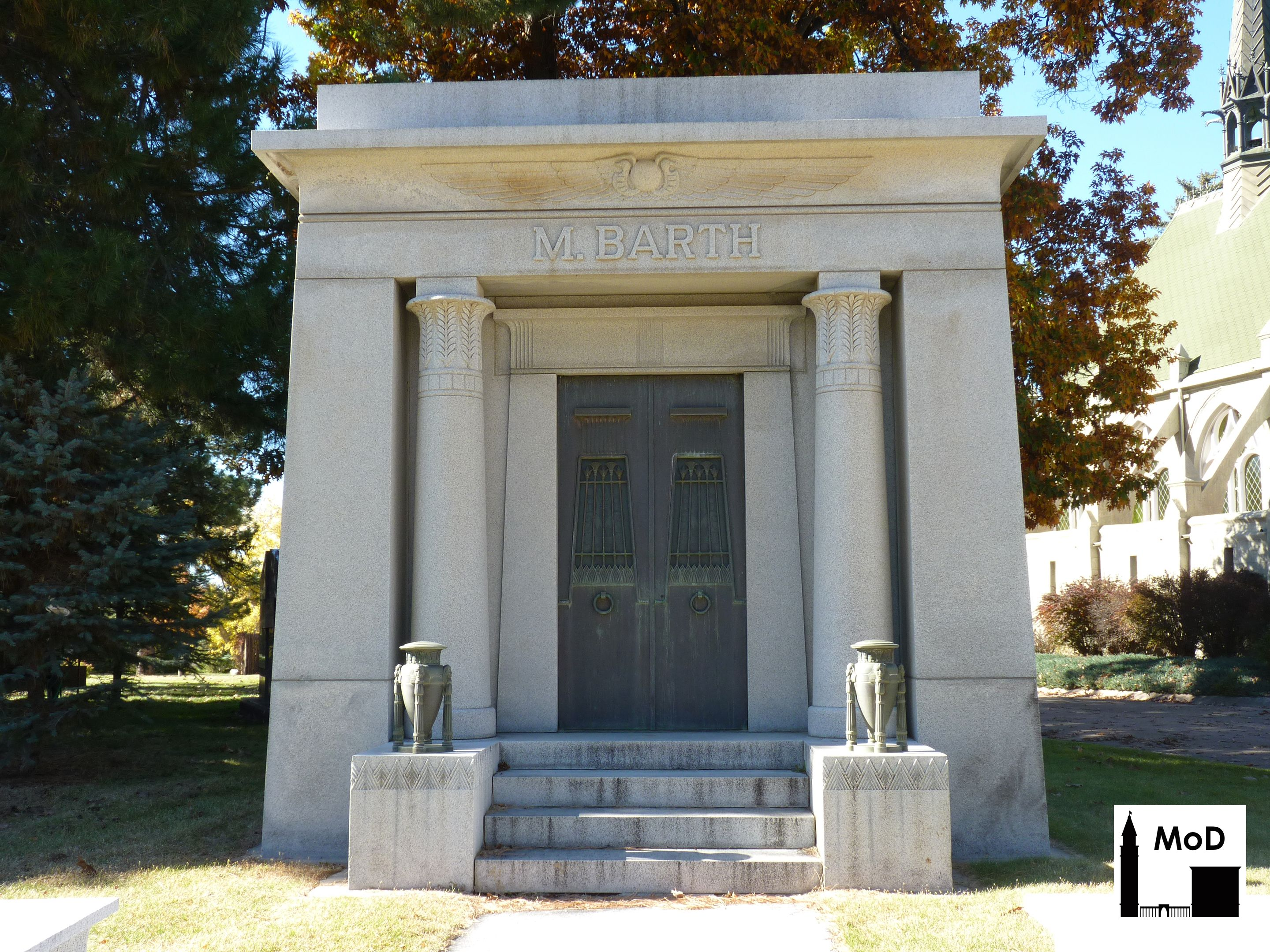 Egyptian Architecture Style the granite m. barth mausoleum designed in the egyptian revival