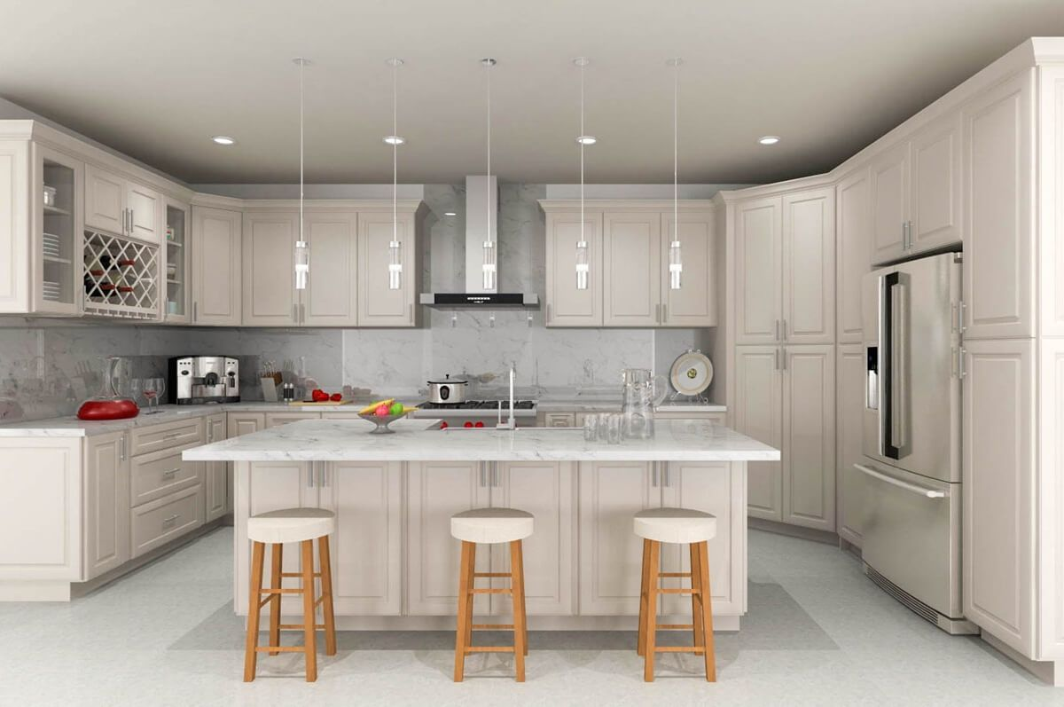 Ash Taupe Kitchen Cabinets Rta Cabinet Store Best Online Cabinets Kitchen Remodel Kitchen Remodel Layout Taupe Kitchen Cabinets