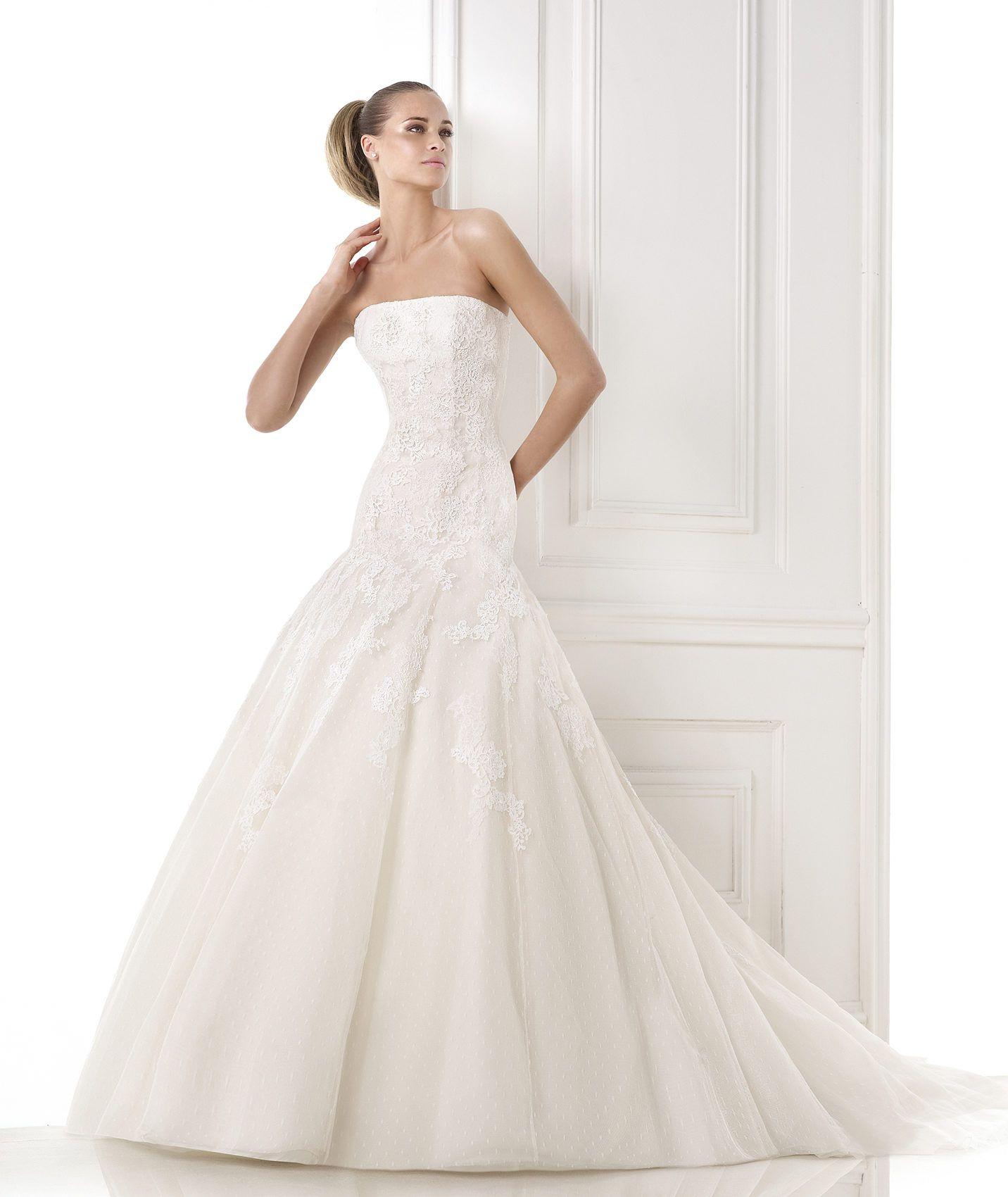 BILYANA Peach tulle wedding dress. Collection 2015