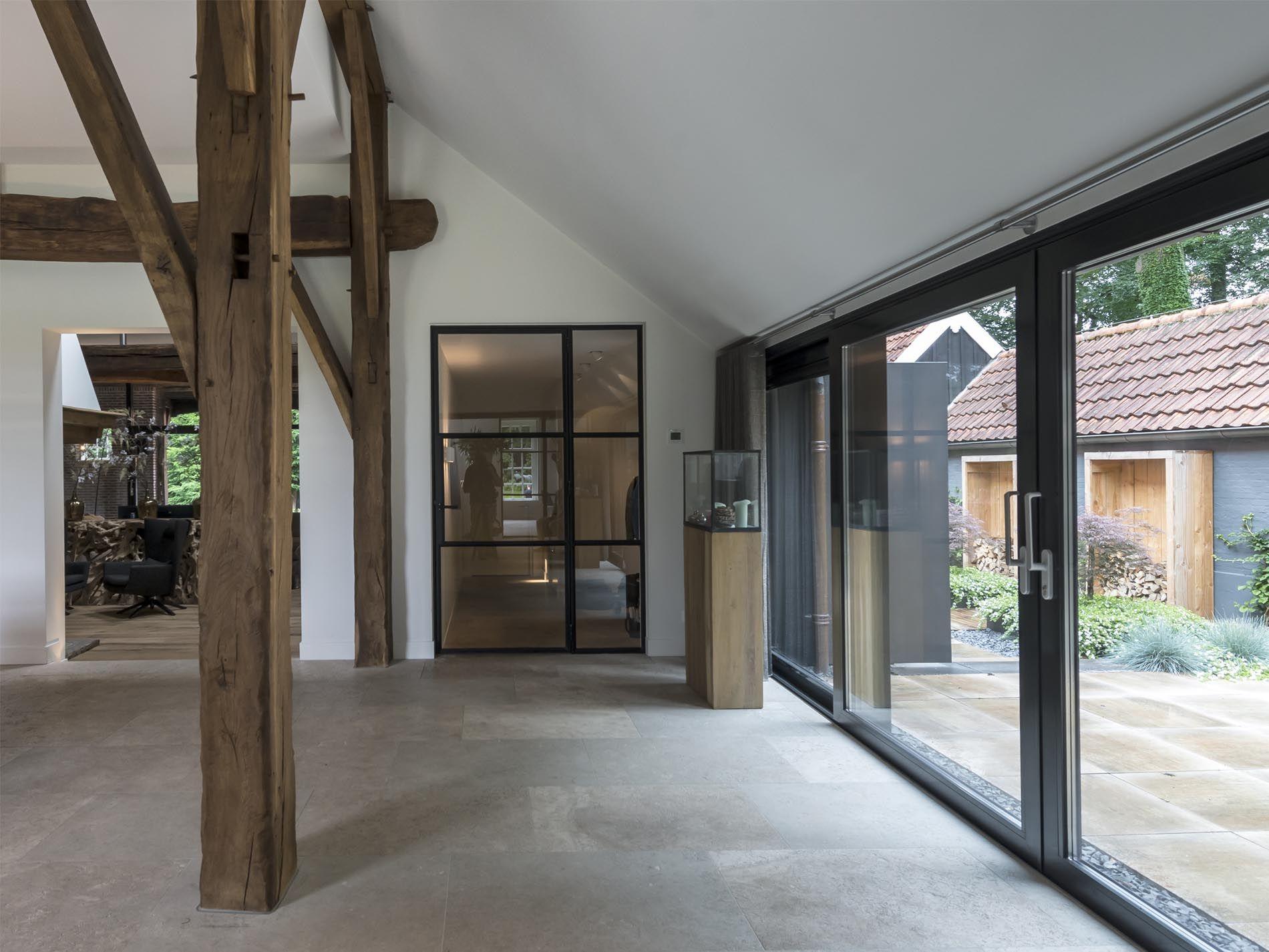Maas architecten verbouwing boerderij enschede maas architecten moodbord langbroekerdijk - Exterieur ingang eigentijds huis ...