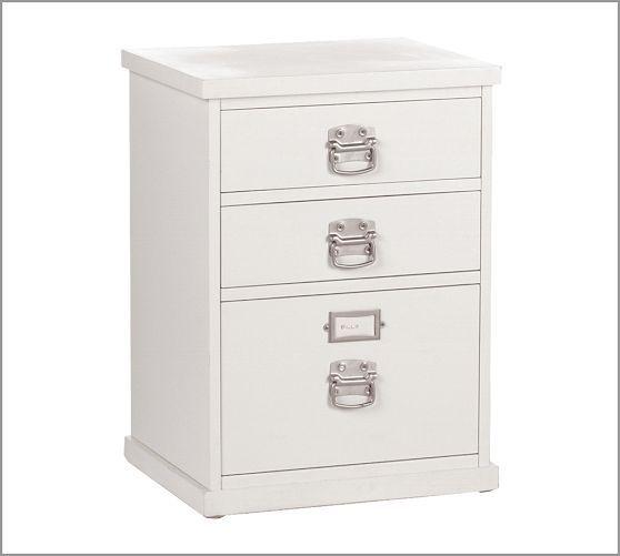 Bedford 3-Drawer File Cabinet | Pottery Barn | Filing ...