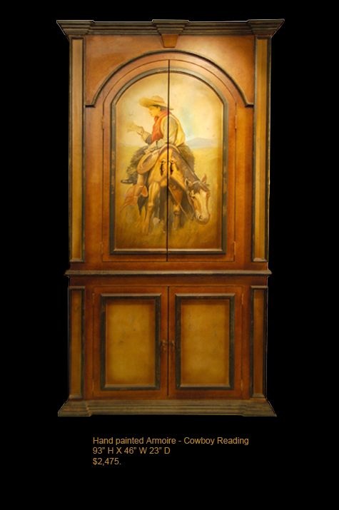 HBR cowboy reading armoire | That is TOTALLY me... | Pinterest ...