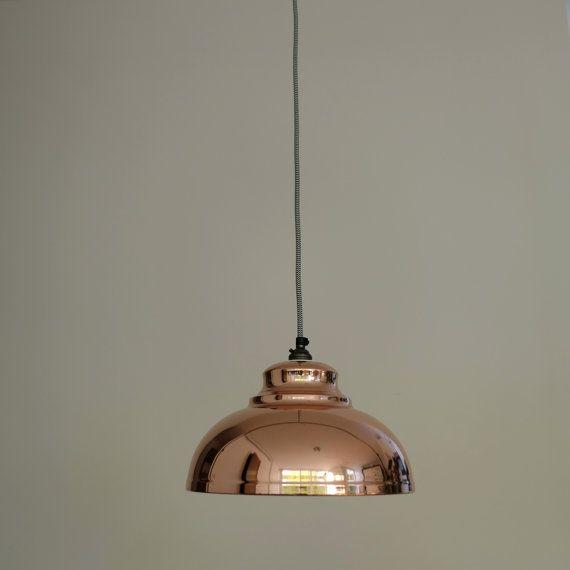 Retro Industrial Copper Pendant Light