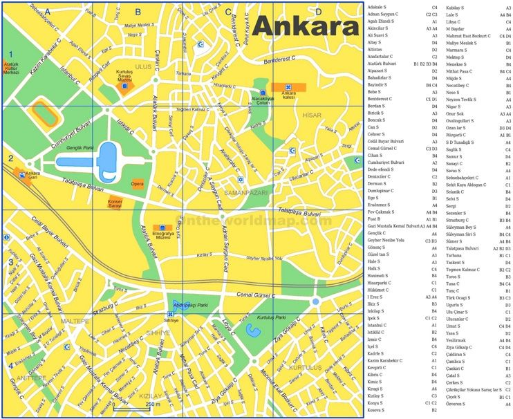 Ankara tourist map Maps Pinterest Tourist map and City
