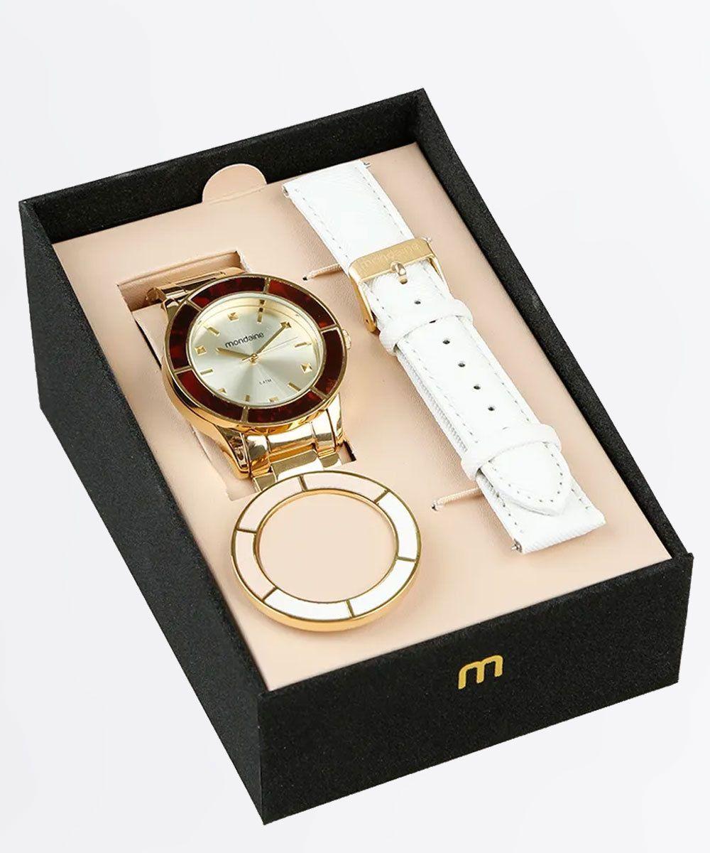 d43822ef80a Kit Relógio Feminino Mondaine 99265LPMVDE6