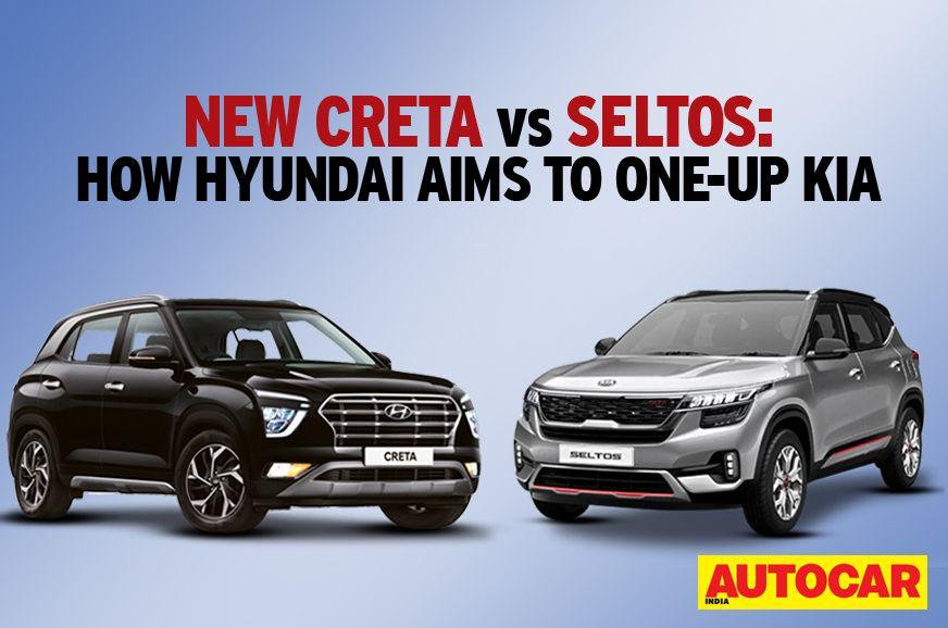 New Creta Vs Seltos How Hyundai Aims To One Up Kia In 2020 Hyundai Best Suv Infotainment System