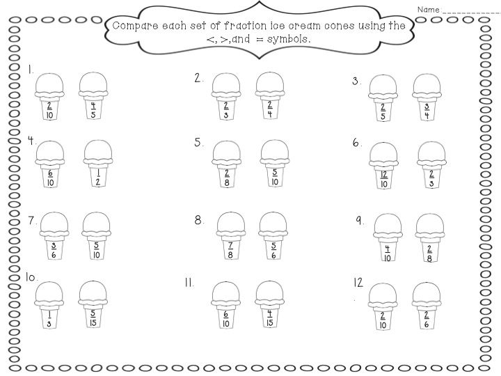 Comparing Fractions With Unlike Denominators Scalien – Comparing Fractions with Unlike Denominators Worksheets